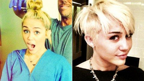 Det skapte stor ståhei da Miley klippet av seg sine lange lokker i fjor.