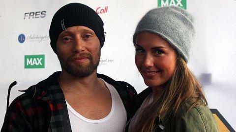 SAMMEN: Tone og Aksel dukket opp på Jenny Skavlan og Daniel Francks premiere på TV-serien Fritt Fall.