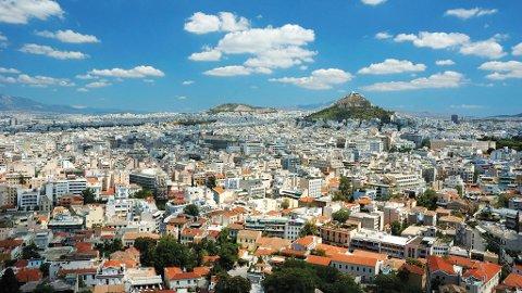 Utsikt over Athen by.
