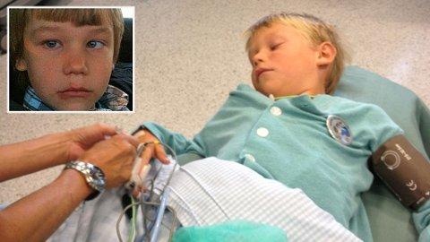OPERERT. Ti måneder etter han ble skjeløyd, ble Jullian operert.