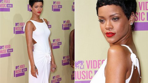 EKPERIMENTELL: Rihanna er ikke redd for å teste ut nye frisyrer.