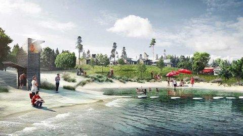IDYLL: AUF presenterte fredag planene for nye Utøya.