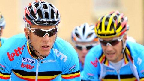 KLASSE-DUO: To klare favoritter til VM i Valkenburg. Philippe Gilbert og Tom Boonen leder det belgiske laget.