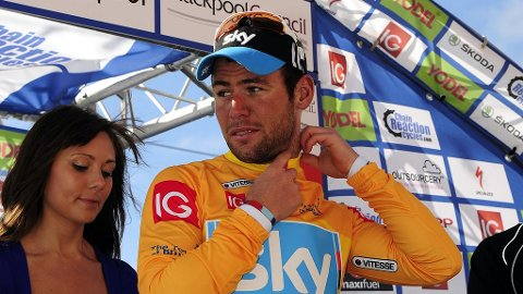 TRØYEFIN: Ny etappeseier betyr ledelse sammenlagt for Cavendish.