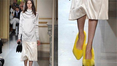 CELINE viste frem sin kolleksjon under Paris Fashion Week. Kolleksjonen inkluderte blant annet pelskledde sko.