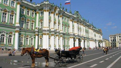 Berømt og overdådig oversikt over Ermitasjen.