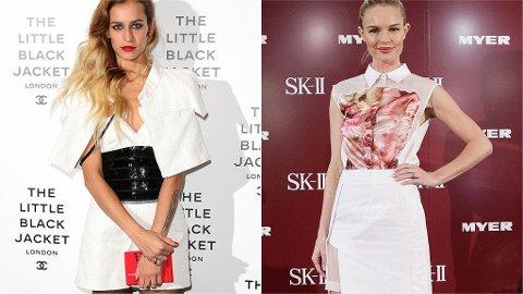 UKENS BEST KLEDDE?: Alice Dellal i Chanel og Kate Bosworth i Preen.