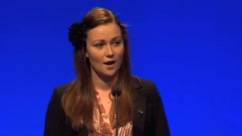 Unge Høyres Kristin Kulseth under Høyres landsmøte i 2011.