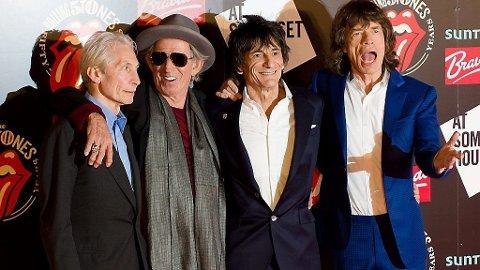 TILBAKE: Rolling Stones - Charlie Keith, Ronnie og Mick - slipper låter, samleskive, biografier og gjør konserter i anledning 50 års jubileumet.
