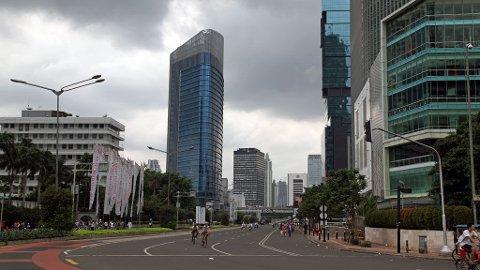 SJELDENT SYN: Vanligvis er denne gaten stappfull av bilister, syklister og motorsyklister.
