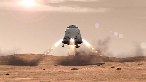 Dragon Mars Landing.