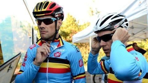 HET DUIO: Belgia har to VM-titler fra Valkenburg. Spørsmålet er om Tom Boonen (til høyre) og Philippe Gilbert finner rytmen i Limburg .