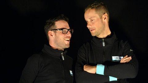 NYE KOMPISER: Mark Cavendish og klassikerkongen Tom Boonen ble presentert som Omga Pharma - QuickSteps store kapteiner for 2013. Deres samarbeid blir avgjørende for lagets suksess kommende sesong.