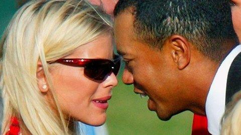 SKILT: Det ble stor oppstandelse verden over da det ble kjent at Tiger Woods hadde bedratt Elin Nordegren med en rekke andre kvinner.