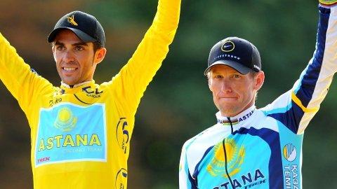 Alberto Contador og Lance Armstrong