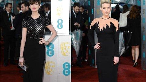 BAFTA: Anne Hathaway får stilskryt mens Alice Eve får kritikk for sitt overdrevne 80-talls antrekk.