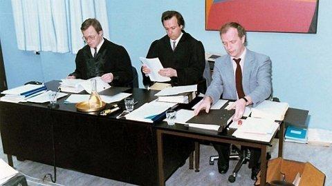 Bilder fra rettssaken mot Arne Treholt i 1985.