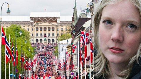- Signalet man sender ut ved å åpne for andre flagg i 17. mai-toget er at norske verdier er det ikke så farlig med. Hvis man føler seg norsk bør man ikke ha behov for å vifte med flagg fra et annet land. Jeg tviler på at jeg ville fått lov til det om jeg reiste til et ikke-vestlig land og gjorde det samme, sier Frp-politiker Aina Stenersen.