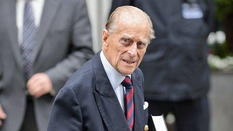 Dronning Elizabeths ektemann var ved godt mot da han forlot sykehuset mandag formiddag.