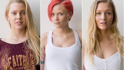 TOP MODEL: Blir en av disse Norges nye toppmodell? F.V. Amalie Raa, Frida Solaker, Elise Finnanger.