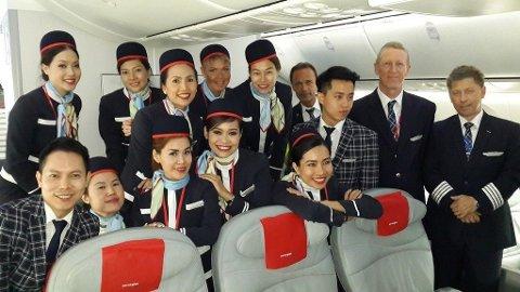 Norwegian Dreamliner Bangkok OSL Bjørn Kjos Flyvertinner Thailand