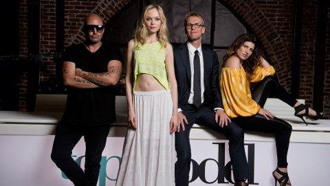 TOP MODEL-DOMMERNE: Jonas Hallberg, Siri Tollerød, Erik Asla og Donna Ionna.
