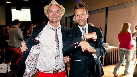 SUKSESS: Fra 2003 til 2012 økte Modds of Norway omsetningen fra 300 000 til 332 millioner. Her er gründerne Simen Staalnacke og Peder Børresen.
