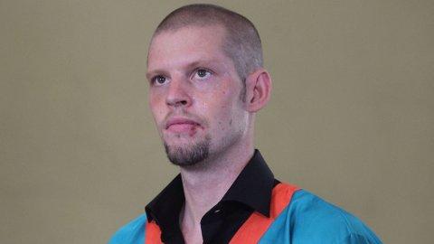 Joshua French i salen, under rettssaken i Ndolo-fengselet i Kinshasa.