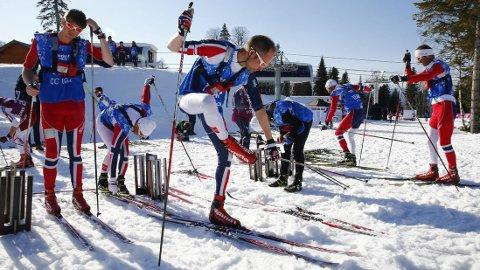 TVILER PÅ NYSTADS PÅSTAND: Swix tror smøresjef Knut Nystad overdriver når han påstar at Norge ikke får tilang på samme smøreutstyr som konkurrentene. Foto: Heiko Junge / NTB scanpix