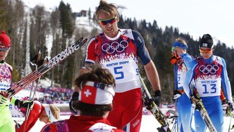 SKUFFET: Petter Northug må reise hjem fra OL uten medalje. Foto: Heiko Junge / NTB scanpix