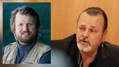 - SOM EN HARRY HOLE-BOK: Forfatter Tom Egeland (til venstre) sier at fremstillingen av Eirik Jensen (til høyre) i media minner mer om fiksjon enn virkelighet.