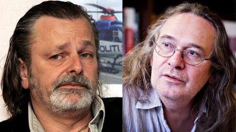 Forfatteren Ingvar Ambjørnsen (til høyre) er svært kritisk til hvordan politiet så langt har håndtert mediedekningen av etterforskningen av Eirik Jensen (til venstre).