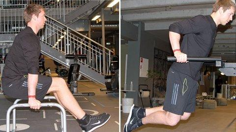 TRENING MED EGEN VEKT: Personlig trener Ulrik Ask Fossum gir deg tips og råd til hvordan du kan bli sterkere med kroppsvekttrening.