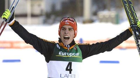 Johannes Rydzek fra Tyskland vant torsdagens verdenscuprenn.