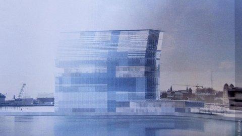 LAMBDA: En illustrasjon av det nye Munch-museet i Bjørvika.