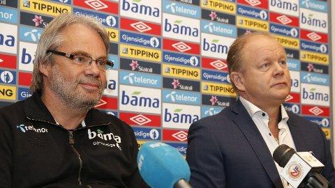 ASSISTENT PÅ PLASS: Jarl Torske ble presentert som assistenttrener på en pressekonferanse hos Norges Fotballforbund tirsdag.