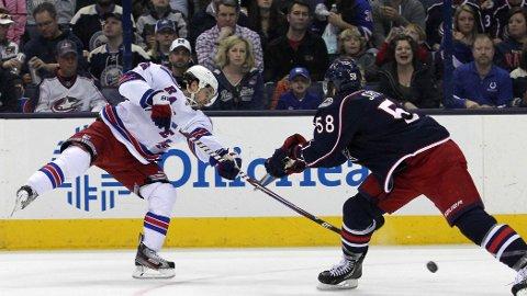 TO NYE POENG: Både Mats Zuccarello og New York Rangers fikk med seg to poeng hjem fra Columbus natt til lørdag, norsk tid.