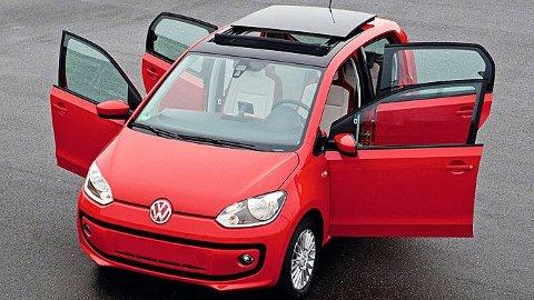 ENDA BILLIGERE: Småbilen Up er minste og billigste modell fra VW i dag. Men mye tyder på at konsernet vil komme med en hel familie biler som er rimeligere enn denne.
