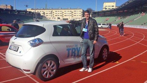 Renault valgte Bislett stadion som arena for lanseringen av den nye elbilen Zoe.