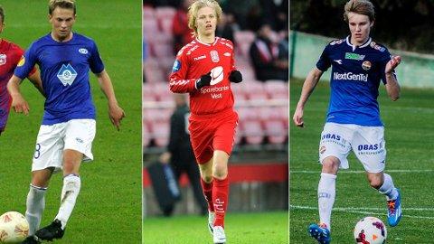 SLÅR GJENNOM? Topptrenerne tror Eirik Hestad (t.v), Håkon Lorentzen (midten) og Martin Ødegaard slår gjennom denne sesongen.