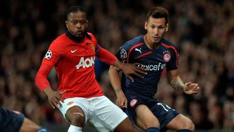 PÅ VEI BORT? Patrice Evra kan komme til å forlate Manchester United etter denne sesongen.
