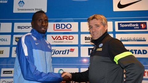 KLAR FOR MOLDE: Pape Pate Diouf signerte mandag kveld for Molde.