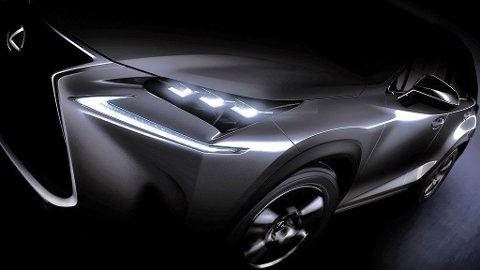 NYHET: Lexus viste konseptmodellen LF-NX i fjor høst. Nå er det bare noen uker til produksjonsklar bil skal debutere på bilutstillingen i Beijing - og Lexus har akkurat sendt ut denne smakebiten til media verden over.