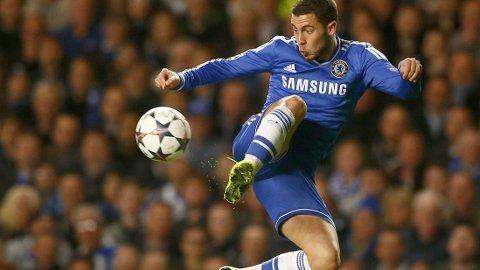 - DET BLIR VANSKELIG: Eden Hazard er en smule pessimistisk med tanke på Premier League-tittelen.