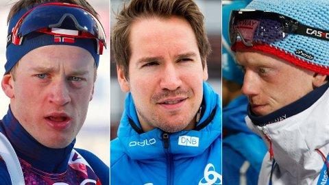 IRETTESATT: Johannes Thingnes Bø, Emil Hegle Svendsen og Tarjei Bø har fått skriftlig advarsel etter helgen i Pokljuka.