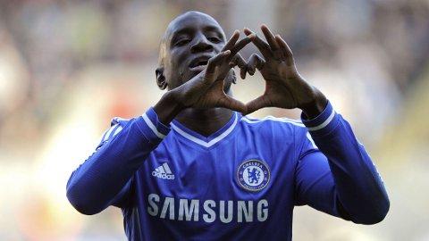 SCORET: Chelsea-spiss Demba Ba ble matchvinner mot Swansea søndag.