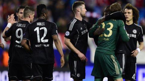 PARKERTE BUSSEN: Chelsea får kritikk for kampen mot Atletico Madrid.