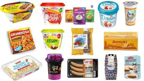 NOE SOM FRISTER? Her er et knippe av de nye mat- og drikkeproduktene som kommer i butikk nå.