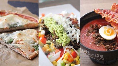 PROTEINER: Her frister Kristine Weber med sunnere og protenrik pizza, taco og hjemmelaget tomatsuppe.