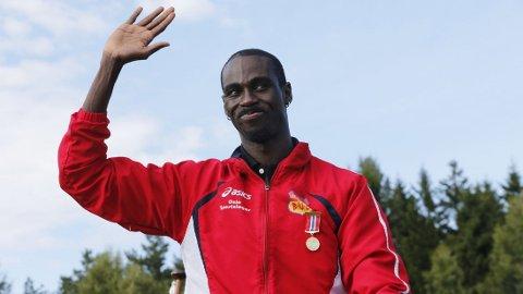KLAR FOR 200 METER: Jaysuma Saidy Ndure skal løpe 200 meter i Doha fredag.